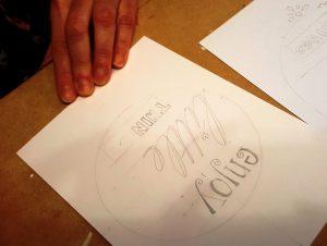 Quotes tekenen met mooie letters